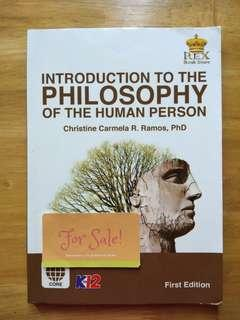 SHS Book: Introduction to the Philosophy of the Human Person