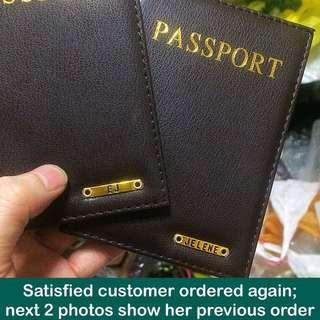 Personalised Passport Covers / Holders [faux leather; uncle anthony]