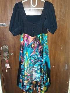 💜 Dress Abstrak Colours