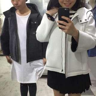 2143白色太空棉外套