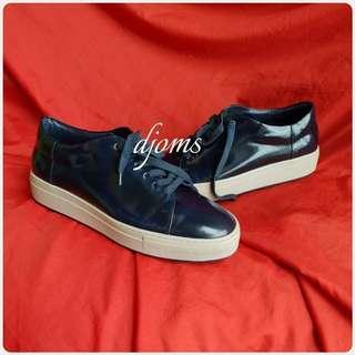 ✔Sz 42 9 Armani Collezioni blu notte trainers lace up mens sneakers shoes