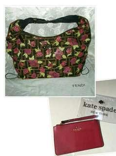 AUTHENTIC QUALITY FENDI HOBO BAG WITH AUTHENTIC KATE SPADE WRISTLET