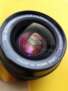 Minolta MD W.Rokkor 28mm F2 *Professionally serviced, CLA'd*