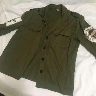 韓版原宿寬鬆多圖案夾克翻領外套
