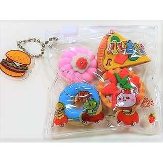 4-Piece Sweet Dessert Eraser Pack