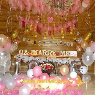 Wedding Proposal / ROM Decor / Birthday Decor / Baby Shower Decor / Hens Night / Dessert Bar Decor for rent