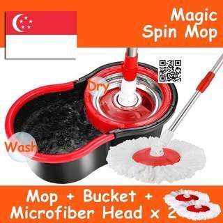 🚚 360 Magic Spin Mop with Bucket / Easy Spin Wash Dry