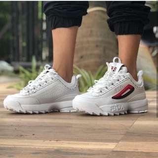 Fila Disruptor II full rev taped white
