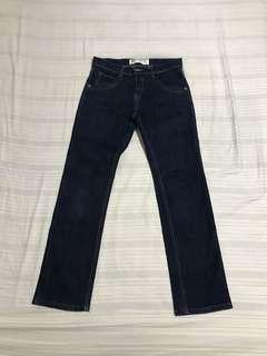 Denim Pants Straight Cut
