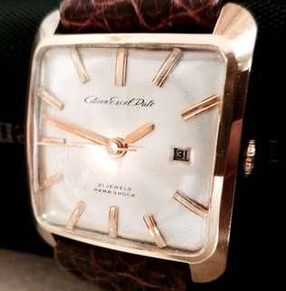 60年代 日本名牌 古董星辰 機械上鍊腕錶 Rare Vintage Citizen Excel Date ParaShock Manual Wind Wristwatch : 100% Original (made in Japan) Dial and GP Case 原裝星辰錶面及包厚金錶殼28.5mm x 34.5mm,Lug 20mm 闊錶耳,運作中 Working Condition