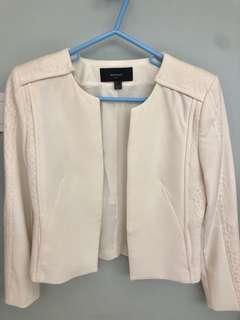 Mango White Jacket