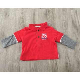 Mothercare Red Long Sleeves Tshirt