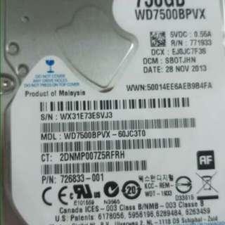 hard disc  750gb