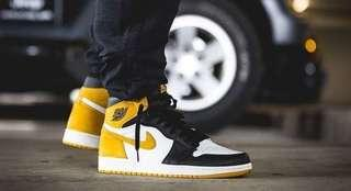Nike Air Jordan 1 Black Yellow
