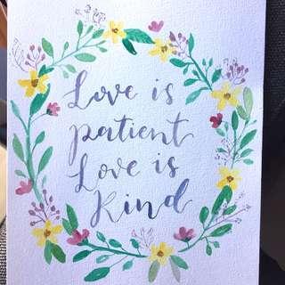Bible lettering artwork