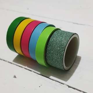 Slim Paper Tapes w/ 1 Glitter Tape
