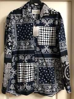 全新日本edifice Bandana shirt new Sz 46