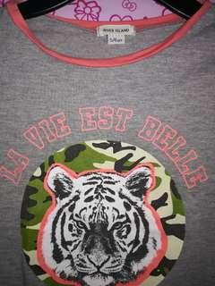 Gray top for girls aged 5-6