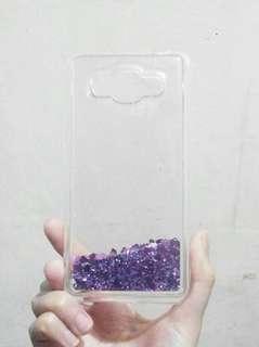 Purple Violet Liquid Glitter Phone Case for Samsung