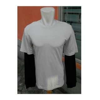 Kaos Oblong Lengan Panjang Sambung