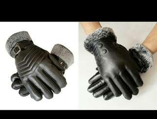 🚚 BN PU Leather Touch Screen Winter Gloves For Man B/L