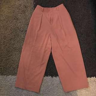 Uniqlo pink culottes