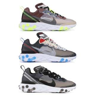"Nike React Element 87 ""Anthracite"""