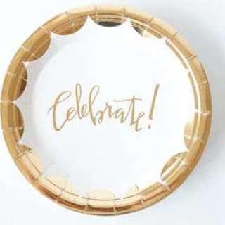 "7"" / 9"" Celebrate Paper Plates"