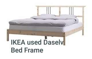 IKEA used Daselv Queen Size Bed Frame (Dismantled)