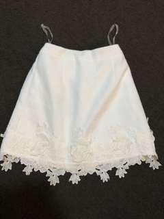 Asilio white embroidered floral skirt RRP$149.95