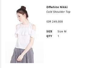 Cottonink Cold Shoulder Top