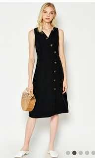 Love and Bravery Blaire Foldover Dress in Black