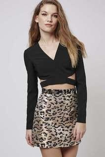 (3 for RM150) Topshop Side Cutout Crop Top #3x100