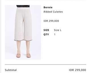 Cottonink Ribbed Culottes