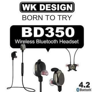 Price revised- WK BD 350 sports wireless headphone