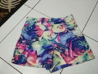 Summer floral hotpants