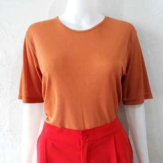 Tangerine round neck jersey too
