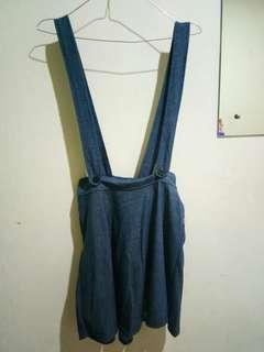 Jumper overall biru tua