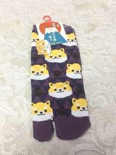 卡通柴犬短襪