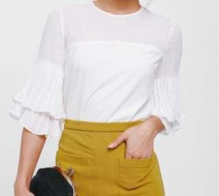 Love Bonito Adanya Pleated Layer Sleeve Top