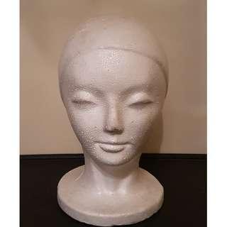 Styrofoam Head Mannequin Woman