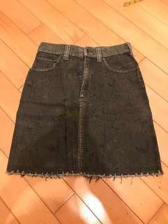 Parka Rock Denim Skirt