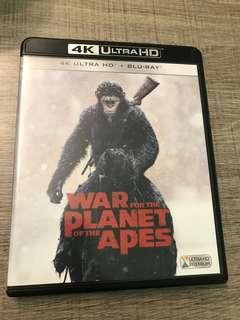 猿人爭霸戰:猩凶巨戰 4k War for the Planet of the Apes blu ray