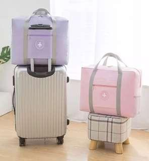 Pastel Pink Travel Cabin Bag Luggage Hand Carry Duffel