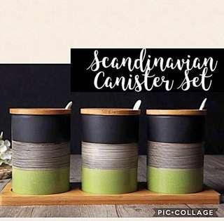 Brand New Scandinavian 3-piece Canister Set