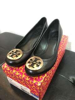 Tory Burch Molly 45mm Wedge-tumbled leather