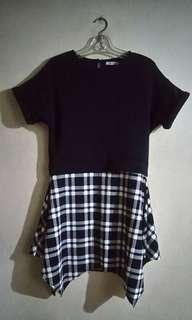 Dress with Plaid Skirt (Black Sheep)