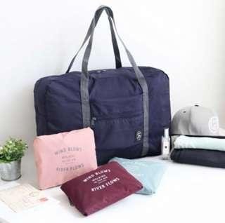 Navy Blue Korean Foldable Cabin Bag Luggage Hand Carry