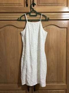 Miss selfridge white halter dress