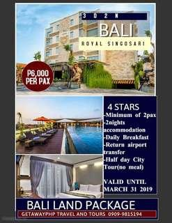 3d2n Bali 4 star Hotel Land Package with City tour
